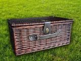 Набор для пикника на 4 персоны «Плетёная корзина 2712 Шоколад»