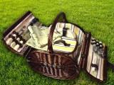 Набор для пикника на 4 персоны «Плетёная корзина 2835 Шоколад»