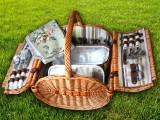 Набор для пикника на 4 персоны «Плетёная корзина 2835 Мёд»