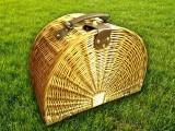 Набор для пикника на 4 персоны «Плетёная корзина 2836 Мёд»