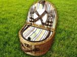 Набор для пикника на 4 персоны «Плетёная корзина 2836 Шоколад»