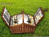 Набор для пикника на 4 персоны «Плетёная корзина C020K Шоколад»