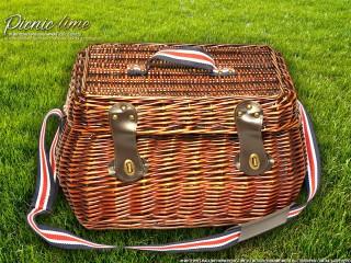 Набор для пикника на 4 персоны «Плетёная корзина C005 Шоколад»