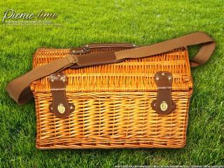 Набор для пикника на 4 персоны «Плетёная корзина 4288 Мёд»