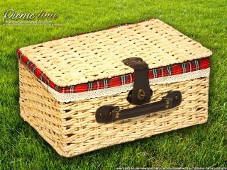 Набор для пикника на 4 персоны «Плетёная корзина 4265 Мёд»