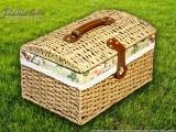Набор для пикника на 4 персоны «Плетёная корзина 4268 Мёд»