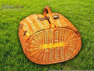 Набор для пикника на 4 персоны «Плетёная корзина C028K Мёд»