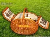 Набор для пикника на 4 персоны «Плетёная корзина C028 Мёд»