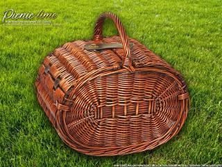 Набор для пикника на 4 персоны «Плетёная корзина C028K Шоколад»