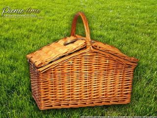Набор для пикника на 4 персоны «Плетёная корзина C020M Мёд»