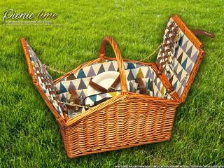 Набор для пикника на 4 персоны «Плетёная корзина C020 Мёд»