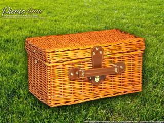 Набор для пикника на 4 персоны «Плетёная корзина C004K Мёд»
