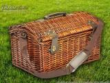 Набор для пикника на 4 персоны «Плетёная корзина 4288K Шоколад»