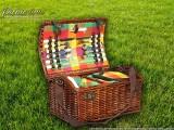 Набор для пикника на 4 персоны «Плетёная корзина 4288 Шоколад»